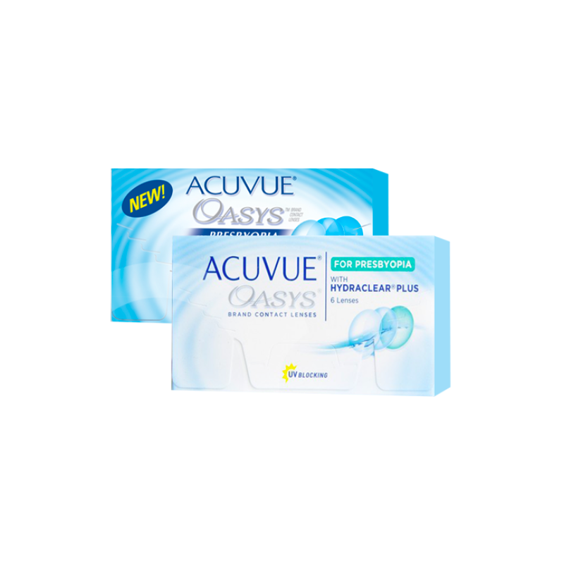 ACUVUE OASYS FOR PRESBYOPIA WITH HYDRACLEAR PLUS Johnson&Johnson, Boite de 6 lentilles
