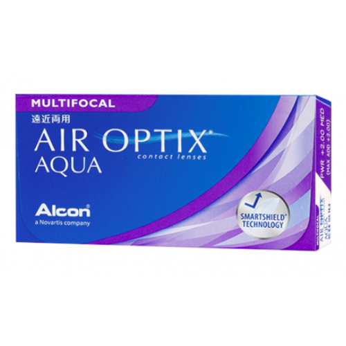 AIR OPTIX AQUA MULTIFOCAL Ciba Vision-Alcon, Boîte de 6 lentilles