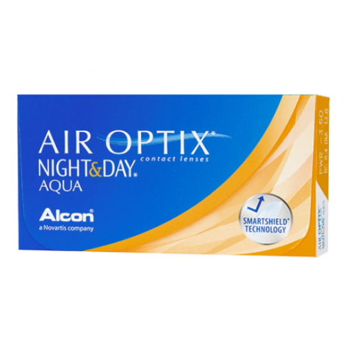 AIR OPTIX NIGHT & DAY AQUA Ciba Vision-Alcon, Boîte de 6 lentilles
