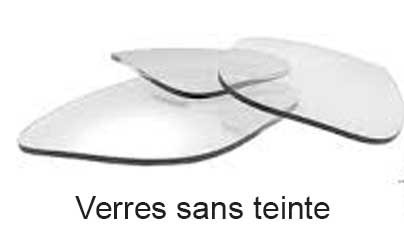 Verres sans teinte (transparents) inclus
